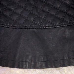 TCEC Skirts - SALE - Black Vegan leather Moto mini skirt SZ L